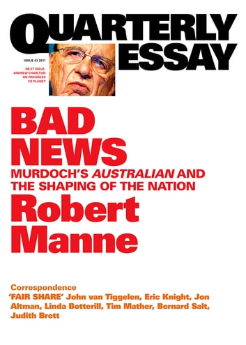 robert manne quarterly essay ebook In denial: the stolen generations & the this essay tells us that robert manne is intent on finding the the stolen generations & the right: quarterly essay 1.