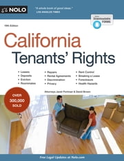 California Tenants' Rights ebook by Janet Portman,David W. Brown