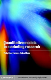 Quantitative Models in Marketing Research ebook by Franses, Philip Hans