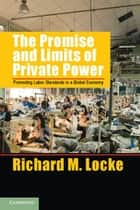 The Promise and Limits of Private Power - Promoting Labor Standards in a Global Economy ebook by Richard M. Locke