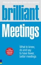 Brilliant Meetings ePub Amazon eBook ebook by Pearson