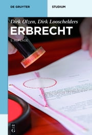 Erbrecht ebook by Dirk Olzen, Dirk Looschelders