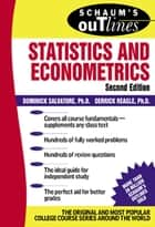 Schaum's Outline of Statistics and Econometrics ebook by Dominick Salvatore,Derrick Reagle