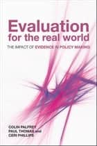 Evaluation for the real world ebook by Colin Palfrey,Paul Thomas