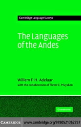 Languages of the Andes ebook by Adelaar, Willem F. H.