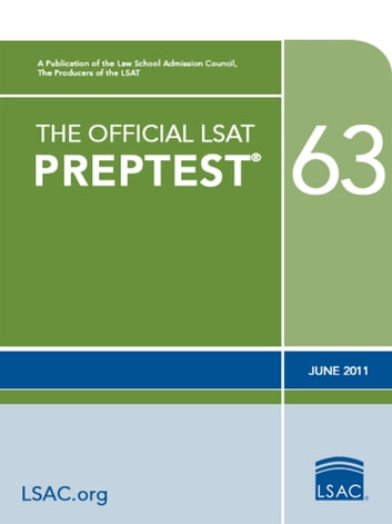 The Official LSAT PrepTest 63 - (June 2011) ebook by Law School Admission Council