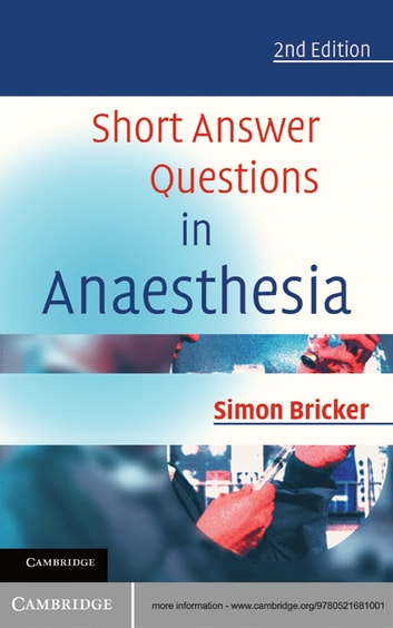 Short Answer Questions in Anaesthesia ebook by Simon Bricker