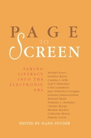 Page to Screen - Taking Literacy into the Electronic Era ebook by Ilana Snyder
