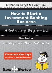 How to Start a Investment Banking Business - How to Start a Investment Banking Business ebook by Tomasa Homer