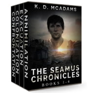 The Seamus Chronicles Books 1-4 - Annihilation, Evacuation, Colonization and Confrontation ebook by K. D. McAdams