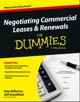 Negotiating Commercial Leases & Renewals For Dummies ebook by Dale Willerton,Jeff Grandfield