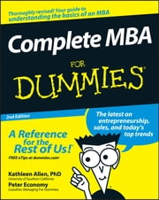 Complete MBA For Dummies ebook by Peter Economy, Kathleen Allen