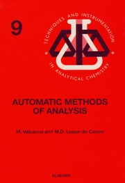 Automatic Methods of Analysis ebook by Valcárcel, M.