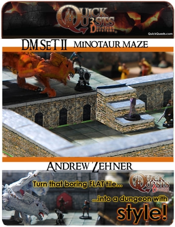 photograph regarding Printable Dungeon Tiles named Printable 3D dungeon Tiles Minotaur Maze established for Dungeons and Dragons, DD, Gurps, Warhammer or other RPG