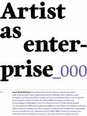 Artist as enterprise ebook by Jean-Claude Moineau