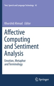 Affective Computing and Sentiment Analysis - Emotion, Metaphor and Terminology ebook by Khurshid Ahmad