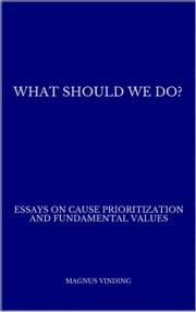 What Should We Do?: Essays on Cause Prioritization and Fundamental Values ebook by Magnus Vinding