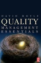 Quality Management Essentials ebook by David Hoyle