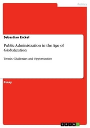 Public Administration in the Age of Globalization - Trends, Challenges and Opportunities ebook by Sebastian Erckel