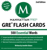 500 Essential Words - GRE Vocabulary Flash Cards, 2nd Edition ebook by Manhattan Prep