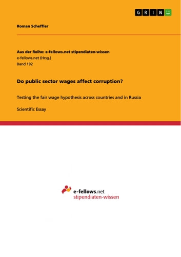 Essay About Healthy Food Do Public Sector Wages Affect Corruption  Testing The Fair Wage  Hypothesis Across Countries And Example English Essay also Computer Science Essay Topics Do Public Sector Wages Affect Corruption Ebook By Roman Scheffler  Thesis Statement Examples For Persuasive Essays