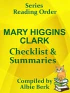 Mary Higgins Clark: Series Reading Order - with Summaries & Checklist ebook by Albie Berk