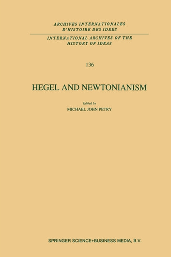 Hegel and Newtonianism ebook by