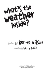 What's the Weather Inside? ebook by Karma Wilson