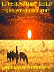 Literature Help: True at First Light ebook by Students' Academy