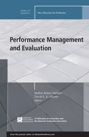 Performance Management and Evaluation - New Directions for Evaluation, Number 137 ebook by