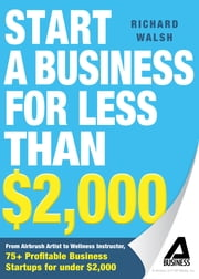 Start a Business for Less Than $2,000 - From Airbrush Artist to Wellness Instructor, 75+ Profitable Business Startups for Under $2,000 ebook by Richard Walsh