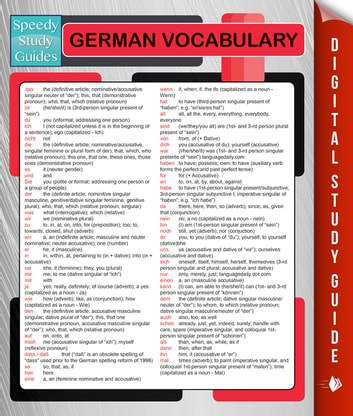 German Vocabulary (Speedy Language Study Guides) ebook by Speedy Publishing