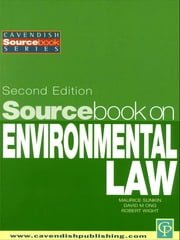 Sourcebook on Environmental Law ebook by Maurice Sunkin