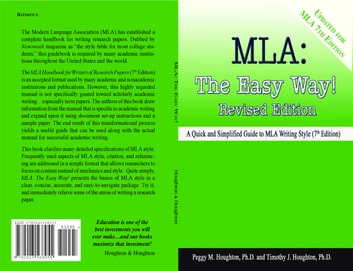 MLA: The Easy Way! (For MLA 7th Edition) ebook by Peggy M. Houghton,Timothy J. Houghton
