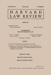 Harvard Law Review: Volume 125, Number 7 - May 2012 ebook by Harvard Law Review