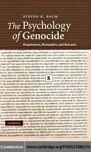 The Psychology of Genocide ebook by Baum,Steven K.