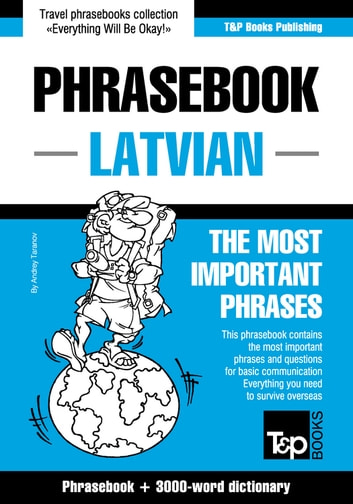 English-Latvian phrasebook and 3000-word topical vocabulary ebook by Andrey Taranov