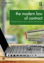 The Modern Law of Contract ebook by Richard Stone, James Devenney
