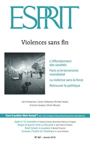 Esprit janvier 2016 - Violences sans fin ebook by Collectif