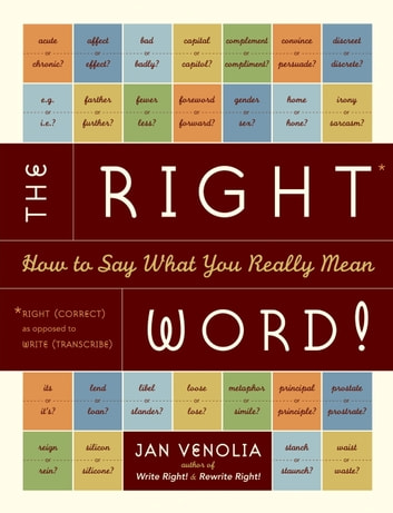 The Right Word! - How to Say What You Really Mean ebook by Jan Venolia