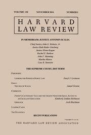 Harvard Law Review: Volume 130, Number 1 - November 2016 ebook by Harvard Law Review