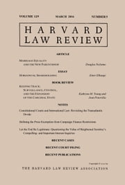 Harvard Law Review: Volume 129, Number 5 - March 2016 ebook by Harvard Law Review
