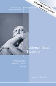 Evidence-Based Teaching - New Directions for Teaching and Learning, Number 128 ebook by William Buskist,James E. Groccia