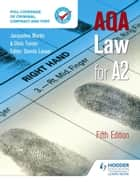 AQA Law for A2 Fifth Edition ebook by Denis Lancer,Jacqueline Martin