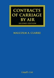Contracts of Carriage by Air ebook by Malcolm A. Clarke