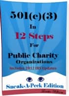 501(c)(3) In 12 Steps For Public Charity Organizations ebook by Tanisha Williams