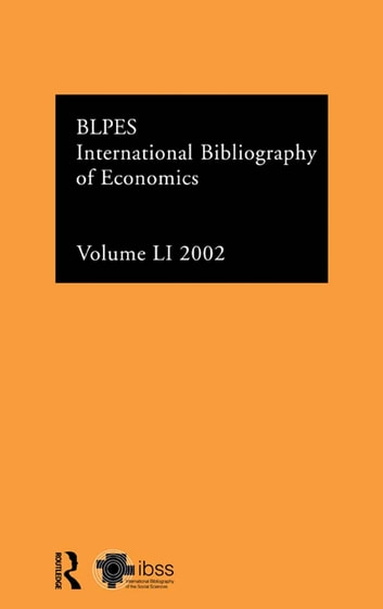 IBSS: Economics: 2002 Vol.51 ebook by