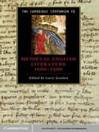 The Cambridge Companion to Medieval English Literature 1100–1500 ebook by Larry Scanlon