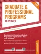 Peterson's Graduate & Professional Programs: An Overview 2012 ebook by Peterson's