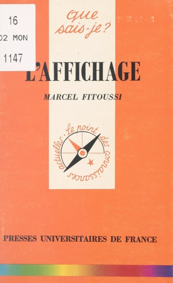 L'affichage ebook by Marcel Fitoussi,Paul Angoulvent